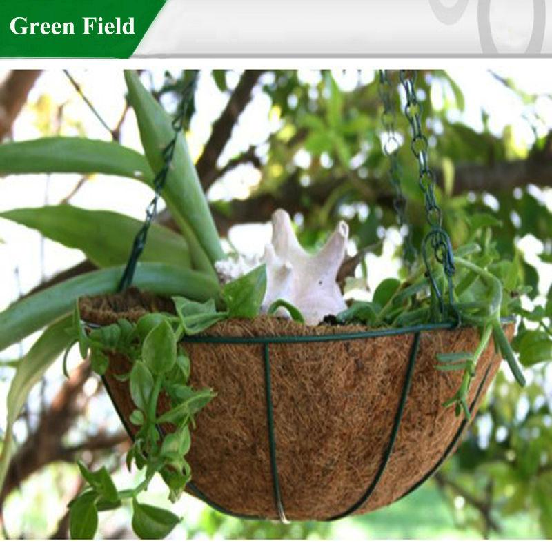 Plante Panier Suspendu : M?tal suspendus plante qui pousse panier avec coco liner