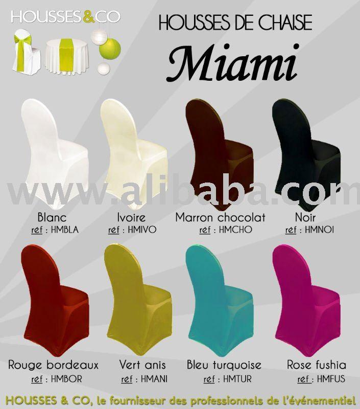 Housses de chaise lycra pour chaises miami chaises coques - Housses pour chaises ...