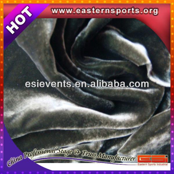 ESI flame retardant polyester fabric drapery for wedding decoration