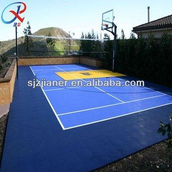 Used Backyard Basketball Plastic Floor