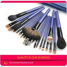 Fay 22pcs sable hair blue cosmetic brush high ranking