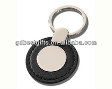 promotional keychain leather metal