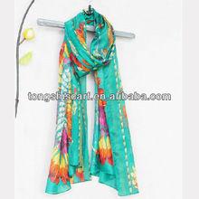 HD308-566 fashion feather print scarf