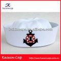 Chapéu de marinheiro para crianças/adulto marinha com bordado do logotipo ou projetos personalizados 100% algodão preço mais baixo