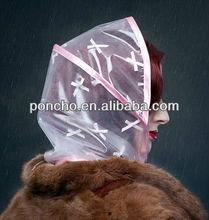 transparent 0.04mm rain hood