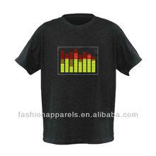 Fashionable men's el flashing t-shirts
