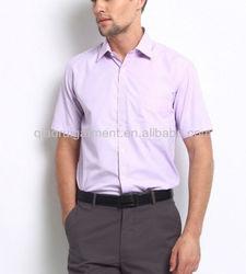 Men Lavender Slim Fit Formal Shirt