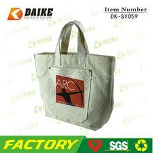 Reusable Safe Non-toxic Canvas Large Shopper Tote Bag DK-SY059
