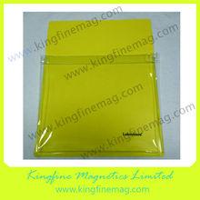 Trasparent file magnetic pocket