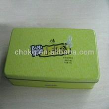 Promotional high fashion empty rectangle tin pencil box