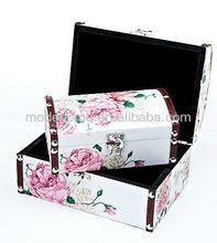 2013 Cheap Flower Design Home Storage Box Wooden Gift Box