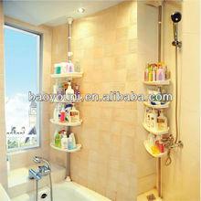 Bonunion adjustable wall shelves plastic decorative wall shelves shelf shampoo holder 0787
