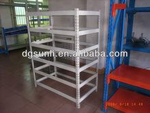 Adjustable powder steel slotted angle shelf