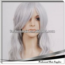 2014 Cheapest Fashion Cosplay wig,Football fans wig,Human hair silicone full lace wig