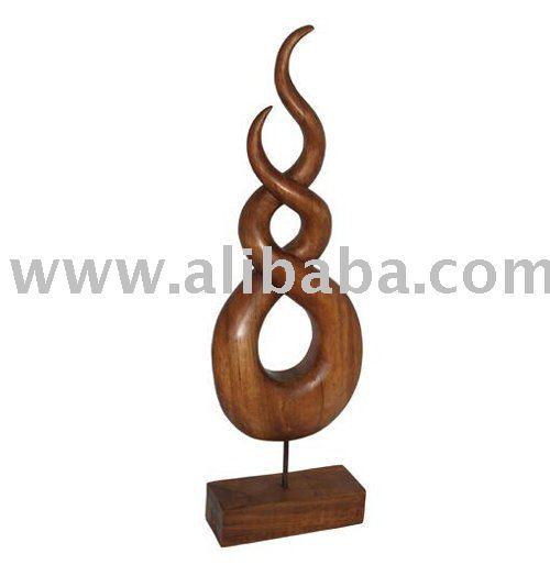 De madera de la figura abstracta artesan as de esculturas - Esculturas de madera abstractas ...