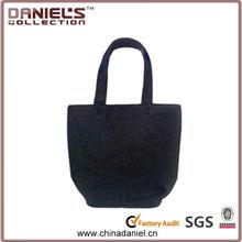 Customize felt tote shopping bag ,black shoulder bag