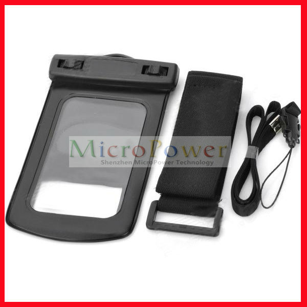 Waterproof Case Bag w/ Armband for Cell phone / MP3 / MP4 / Digital Camera - Black