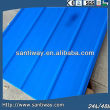 SEA BLUE roofing material painted steel roofing
