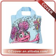 cartoon printing nylon bag shopping foldable bag