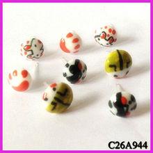 New fashion lovely cartoon printing stud earring wholesale