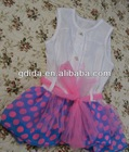 New Design Kids Clothing for Summer one year old girls dress