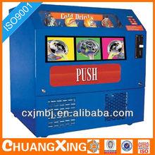 custom design proprietary tabletop soda vending machine powder coated sheet metal housing cabinet precision fabricating