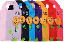 Novelty design 190T Smile Face Shape Bags For Shopping