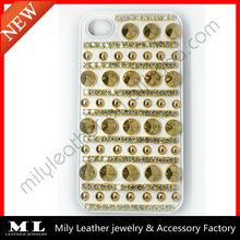 MLPC-0010 Hot sale punk style rivet and diamond phone case