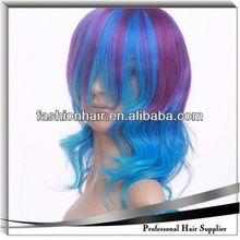 2014 Cheapest Fashion Cosplay wig,Football fans wig,Human hair victoria enterprises
