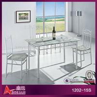 1202-15S Foshan factory manufacture unique victorian metal kitchen table sets