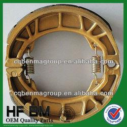 Golden color brake shoe FOR MOTORCYCLE REAR WHEEL, GOLDEN COLOR