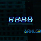 4 Digits 7 Segment LED Digital Display,0.56 Blue Clock Display