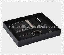 Calculator/pen/key holders for men black packing box