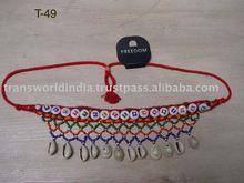 Cowry beaded belt