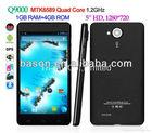 Q9000 MTK6589 Quad Core Android 4.2 3G Smart Phone 1G RAM Standard SIM+Micro SIM