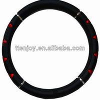 Fashion Design Foam Leather Car Steering Wheel Cover EJ6001