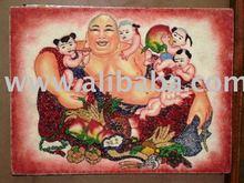 Jade stone handicraft Painting