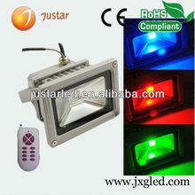 high power rgb led floodlight 10w 30w 50w with IR or RF or DMX512 controller