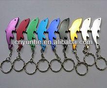 Promotional Dolphin Aluminum Bottle Opener w Keyring -- Panton Colors