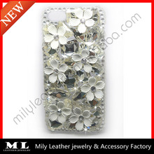 MLPC-0023 New design alloy flower and big crystal diamond phone case
