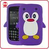 Wholesale Popular Penguin Stylish 3D Animal Rubber Gel Case for Blackberry Curve 8520/8530