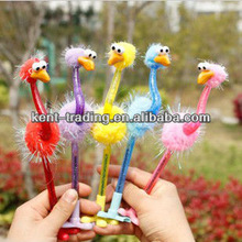 creative new product Ostrich ballpoint pen fashion decoration promotional pen wedding gift pen