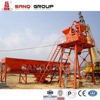 25m3/h Concrete Mixing Plant, JS500 Twin Shaft Mixer Pneumatic Discharge, PLD800 Concrete Batcher 3 Silos in Concrete Machine