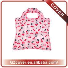 flower printing nylon bag foldable shopping bag