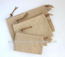 beautiful jute bag with zipper