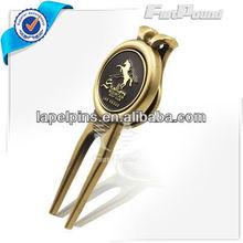 Antique Brass Custom Golf Divot Repair Tool