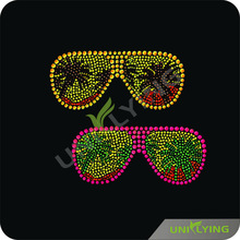 Cool sunglasses rhinestone motif designs