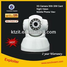 CCTV Security Wireless 3G Alarm Camera HSDPA 3G Pir Alarm Camera / 3G SIM Card IP Camera w/ SIM Card Slot