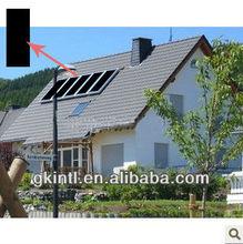 Black chrome plated aluminium solar heate pool collector