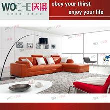 2013 elegant designs comfortable fabric leather sofa set (WQ6895) armchair